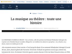 La musique au théâtre: toute une histoire