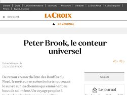 Peter Brook, le conteur universel