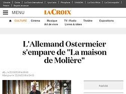"""L'Allemand Ostermeier s'empare de """"La maison de Molière"""""""