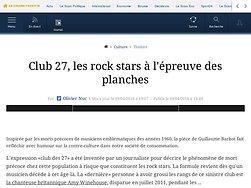 Club 27, les rock stars à l'épreuve des planches
