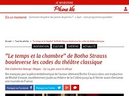 """""""Le temps et la chambre"""" de Botho Strauss bouleverse les codes du théâtre classique"""