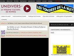 Homère Homer d'Alexis Fichet et Nicolas Richard
