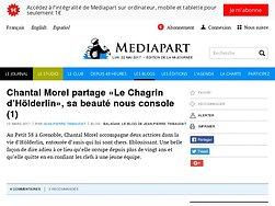 """Chantal Morel partage """"Le Chagrin d'Hölderlin"""", sa beauté nous console"""