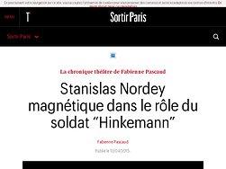 """Stanislas Nordey magnétique dans le rôle du soldat """"Hinkemann"""""""