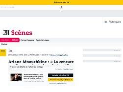 Ariane Mnouchkine: «La censure seglisse partout, dans la trouille surtout»