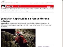 Jonathan Capdevielle se réinvente une «Saga»