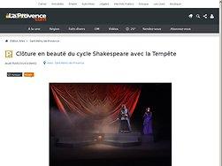 Clôture en beauté du cycle Shakespeare avec la Tempête