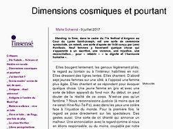 Dimensions cosmiques et pourtant