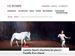 Laetitia Dosch chuchote (et plus) à l'oreille d'un cheval