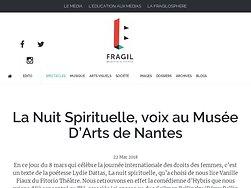 La Nuit Spirituelle, voix au Musée D'Arts de Nantes