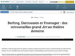 Berling, Darroussin et Fromager: des retrouvailles grand Art