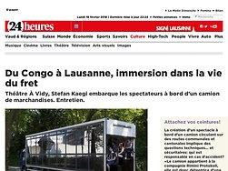 Du Congo à Lausanne, immersion dans la vie du fret