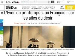 «L'Eveil du printemps» au Français: sur les ailes du désir