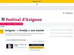 Avignon : « Ovni(s) », une comète