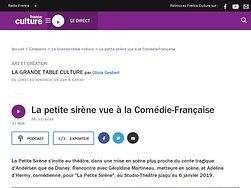 La petite sirène vue à la Comédie-Française