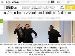 «Art» bien vivant au théâtre Antoine