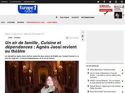 Agnès Jaoui revient au théâtre