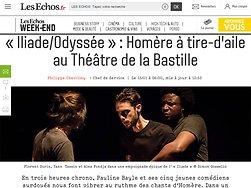 «Iliade/Odyssée»: Homère à tire-d'aile