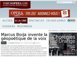 Marcus Borja invente la géopoétique de la voix