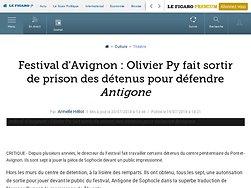 Olivier Py fait sortir de prison des détenus pour défendre Antigone