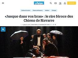 «Jusque dans vos bras» : le rire féroce des Chiens de Navarre