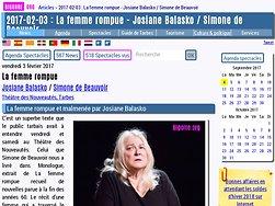 La femme rompue et malmenée par Josiane Balasko