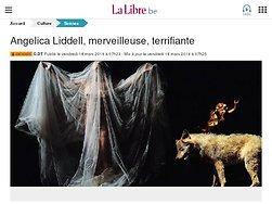 Angelica Liddell, merveilleuse, terrifiante