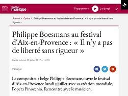 Philippe Boesmans : « Il n'y a pas de liberté sans rigueur »