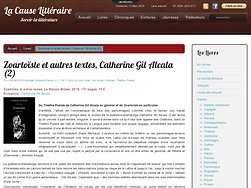 Zoartoïste et autres textes, Catherine Gil Alcala (2)