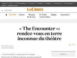 «The Encounter»: rendez-vous en terre inconnue du théâtre