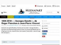 1958-2018 : « Georges Dandin », de Roger Planchon à Jean-Pierre Vincent