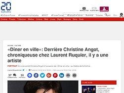 «Dîner en ville»: Derrière Christine Angot, chroniqueuse chez Laurent Ruquier, il y a une artiste