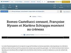 Romeo Castellucci censuré, Françoise Nyssen et Marlène Schiappa montent au créneau