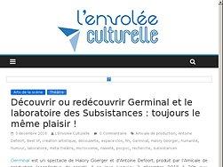 Découvrir ou redécouvrir Germinal et le laboratoire des Subsistances : toujours le même plaisir !