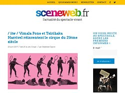 Vimala Pons et Tsirihaka Harrivel réinventent le cirque du 21ème siècle