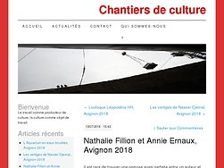 Nathalie Fillion et Annie Ernaux, Avignon 2018