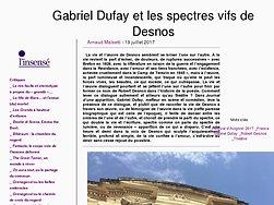 Gabriel Dufay et les spectres vifs de Desnos