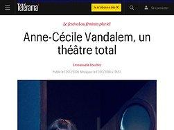 Anne-Cécile Vandalem, un théâtre total