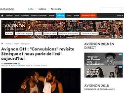 """""""Convulsions"""" revisite Sénèque et nous parle de l'exil aujourd'hui"""