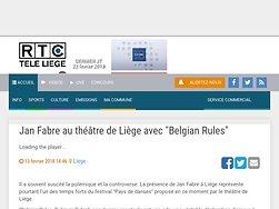 """Jan Fabre au théâtre de Liège avec """"Belgian Rules"""""""