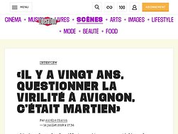 «Il y a vingtans, questionner la virilité à Avignon, c'était martien»