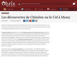 Les découvertes de Chimène ou le Cid à Massy