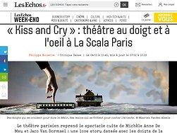 «Kiss and Cry»: théâtre au doigt et à l'oeil à La Scala Paris