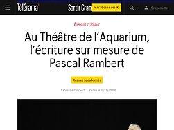 L'écriture sur mesure de Pascal Rambert