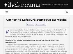 Catherine Lefebvre s'attaque au Moche