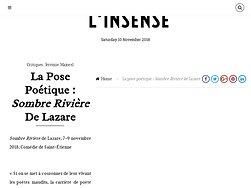 """La pose poétique: """"Sombre Rivière"""" de Lazare"""