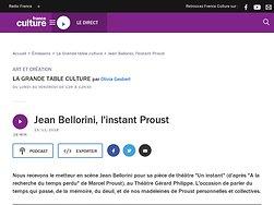 Jean Bellorini, l'instant Proust