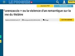 « Lorenzaccio » ou la violence d'un romantique sur la scène du théâtre
