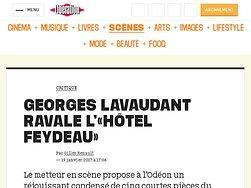 """Georges Lavaudant ravale """"l'hôtel Feydeau"""""""