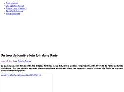 Un trou de lumière loin loin dans Paris